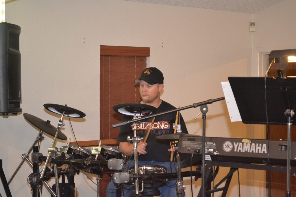 Matt on the drums